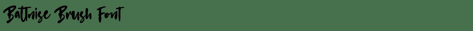 Battnise Brush Font