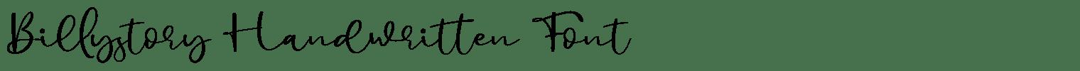 Billystory Handwritten Font
