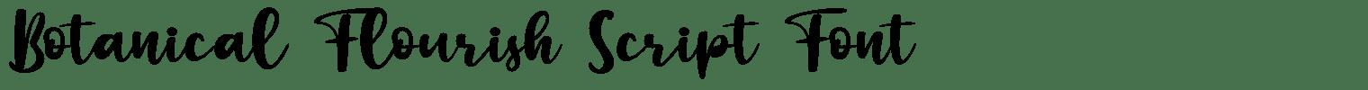 Botanical Flourish Script Font