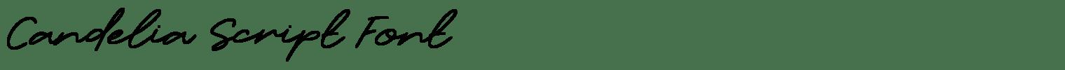 Candelia Script Font