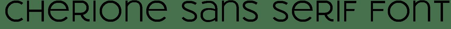 Cherione Sans Serif Font