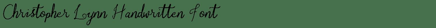Christopher Lynn Handwritten Font