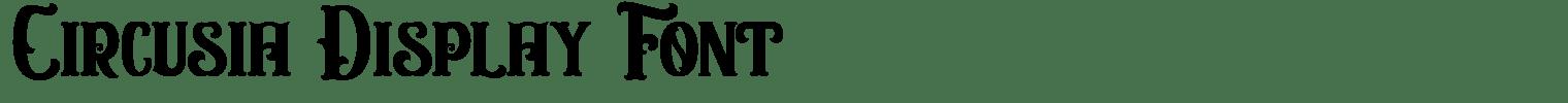Circusia Display Font