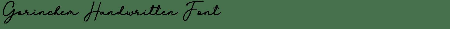 Gorinchem Handwritten Font