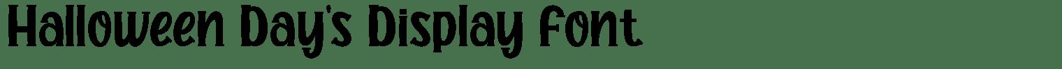 Halloween Day's Display Font