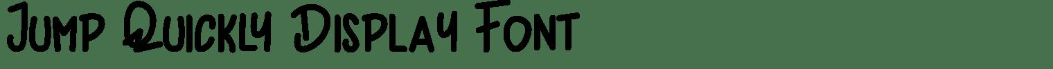 Jump Quickly Display Font