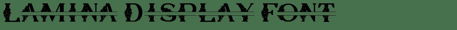 Lamina Display Font