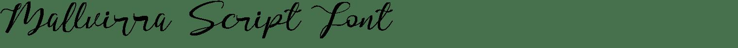 Mallvirra Script Font