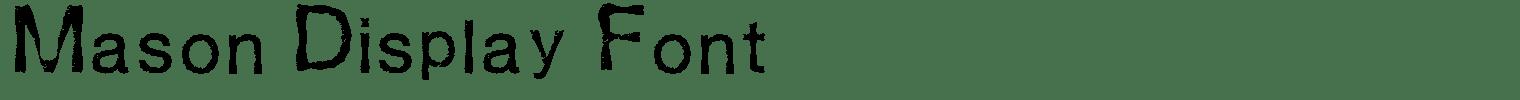 Mason Display Font