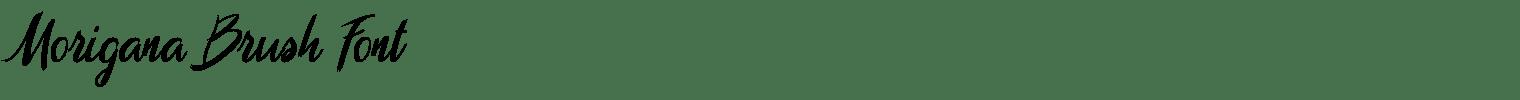 Morigana Brush Font