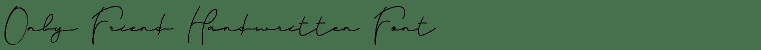 Only Friend Handwritten Font