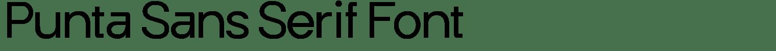 Punta Sans Serif Font