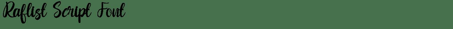 Raflist Script Font