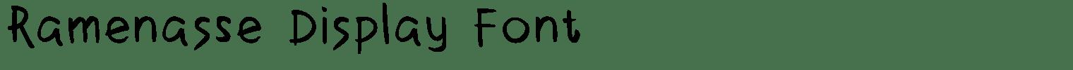 Ramenasse Display Font