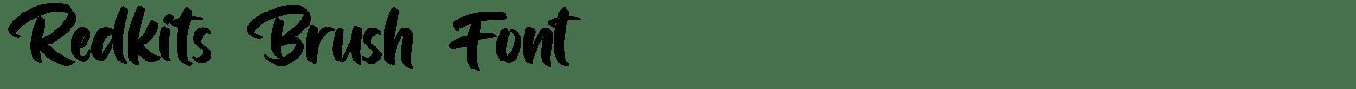 Redkits Brush Font