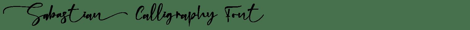 Sabastian Calligraphy Font