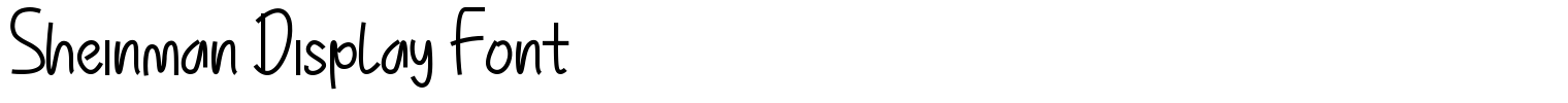 Sheinman Display Font