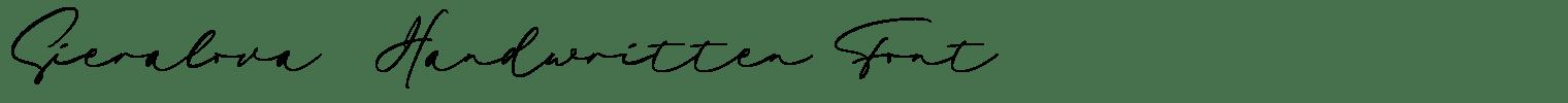 Sieralova Handwritten Font