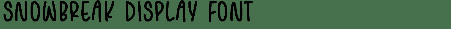 SNOWBREAK Display Font