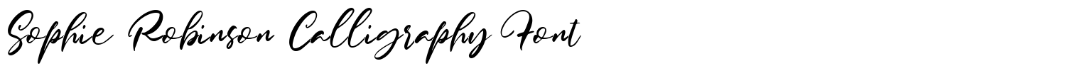 Sophie Robinson Calligraphy Font