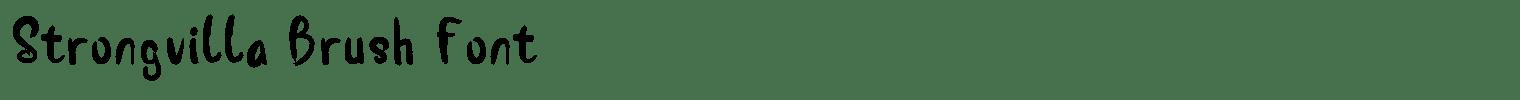 Strongvilla Brush Font