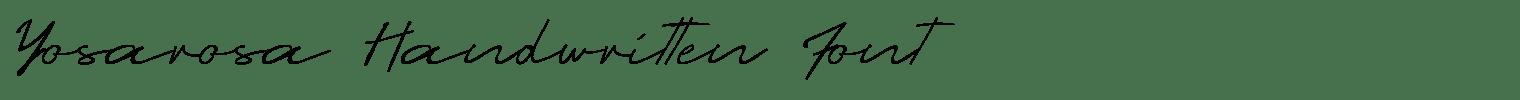 Yosarosa Handwritten Font