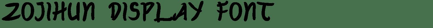 Zojihun Display Font