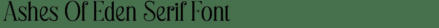 Ashes Of Eden Serif Font