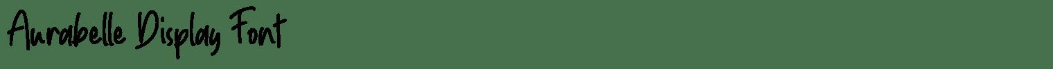 Aurabelle Display Font