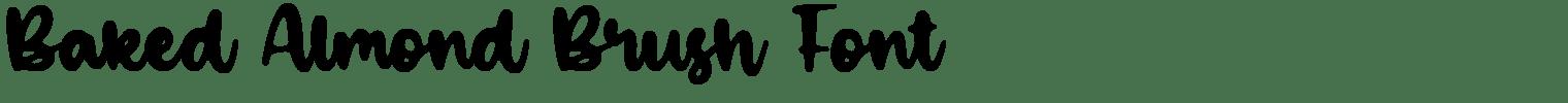 Baked Almond Brush Font