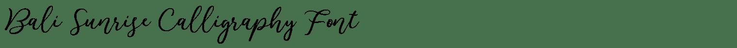 Bali Sunrise Calligraphy Font