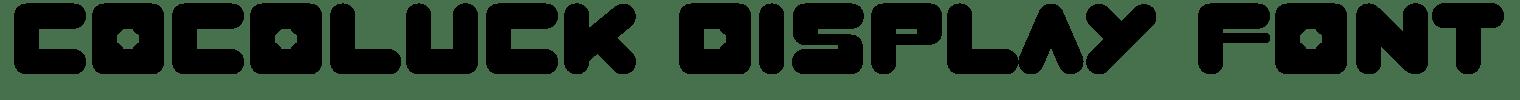 Cocoluck Display Font