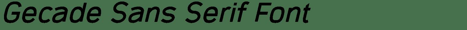 Gecade Sans Serif Font