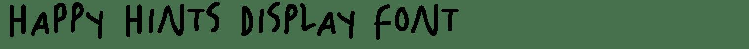 Happy Hints Display Font