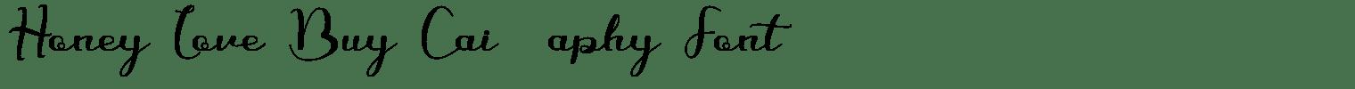 Honey Love Bunny Calligraphy Font