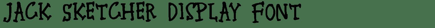 Jack Sketcher Display Font