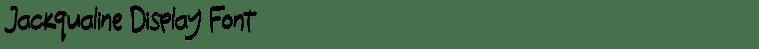 Jackqualine Display Font