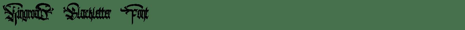 Kingroad Blackletter Font