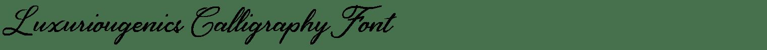 Luxuriougenics Calligraphy Font