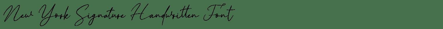 New York Signature Handwritten Font