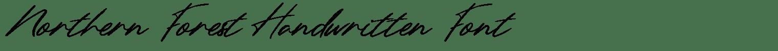 Northern Forest Handwritten Font