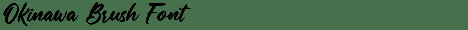 Okinawa Brush Font