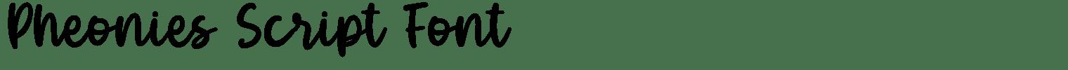 Pheonies Script Font