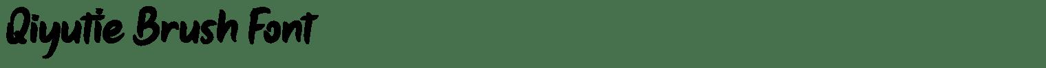 Qiyutie Brush Font