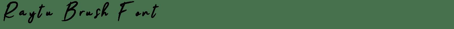 Raytu Brush Font