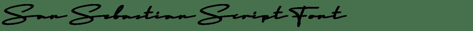 San Sebastian Script Font