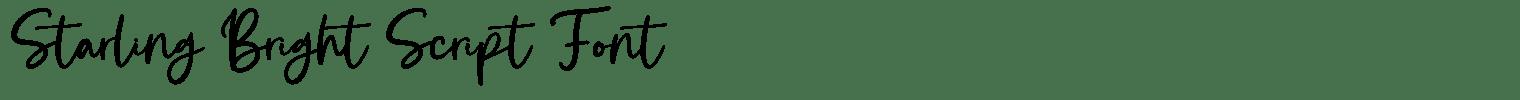 Starling Bright Script Font