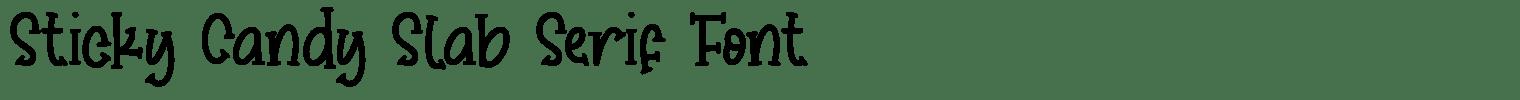 Sticky Candy Slab Serif Font