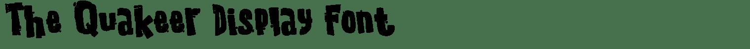 The Quakeer Display Font