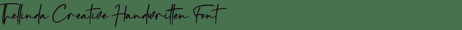 Thellinda Creative Handwritten Font